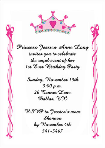 Child Birthday Party Invites
