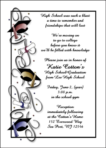 Party Invites for School Graduates