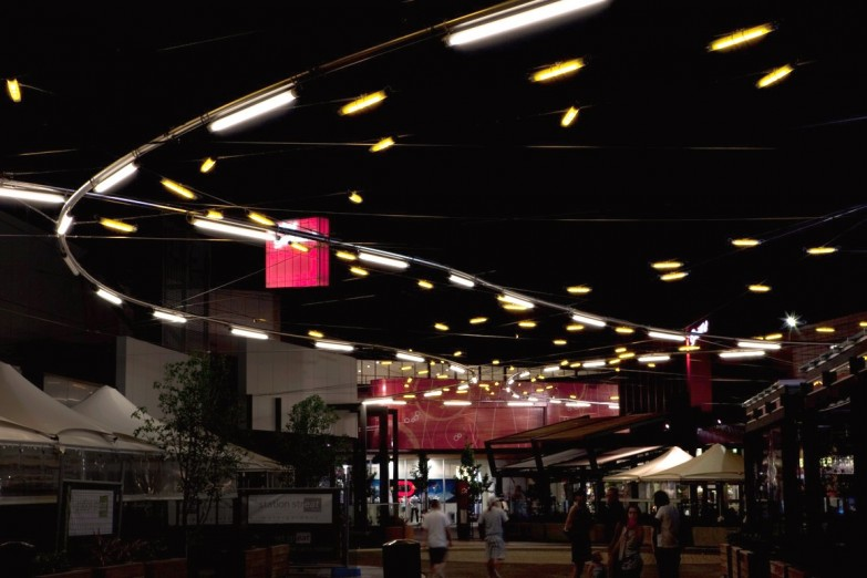 Ronstan Catenary Lighting System at Watergardens