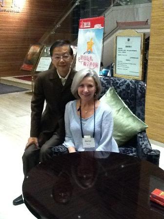 Myrna George with Ke Zhi Hao in China