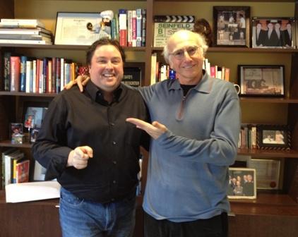 Charles Brennan and Larry David 2011