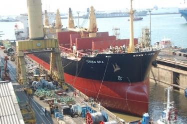MV. IONIAN SEA ACCOMMODATED IN DRYDOCK