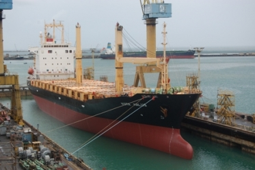 Pacific International Lines (PIL),UK owned MV  Kota Halus repairs