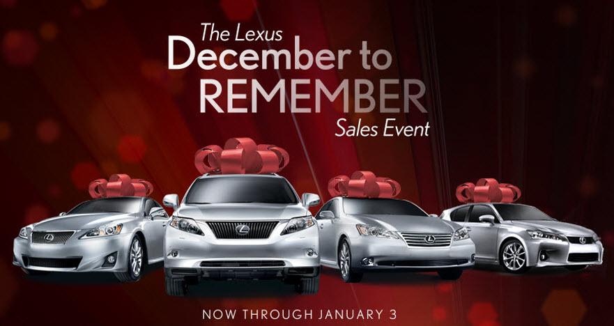 Kuni Lexus December To Remember Sales Event