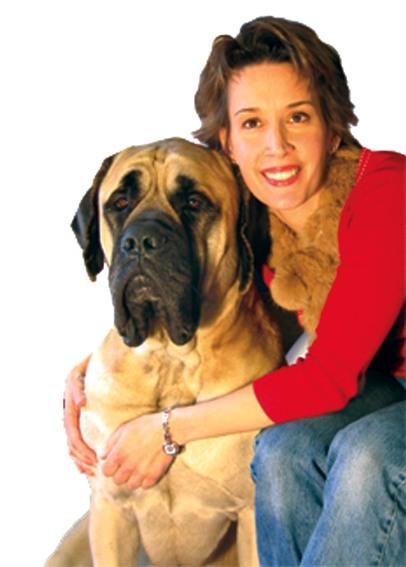 Pet Aesthetics' owner Susan Begasse with Mac