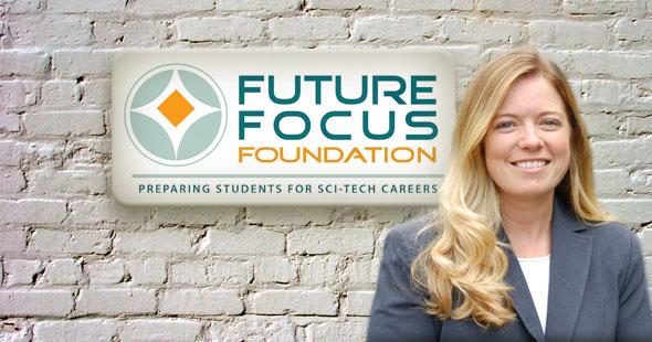 Managing Director Elizabeth Narehood with new logo
