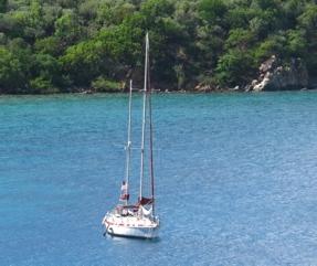 """Antiquity at Anchor at """"Treasure Island"""" BVI"""