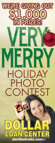 Dollar Loan Center Holiday photo contest