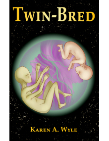 Twin-Bred paperback front cover for SheWrites