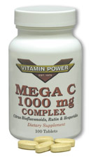 Mega C-1000 mg Complex Tablets by Vitamin Power