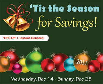 Holiday Savings are Here!