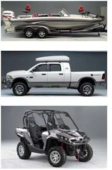 The Grand Prize Includes a RAM Truck, Boat and SSV