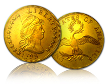 1795 13-leaves $10 gold eagle coin