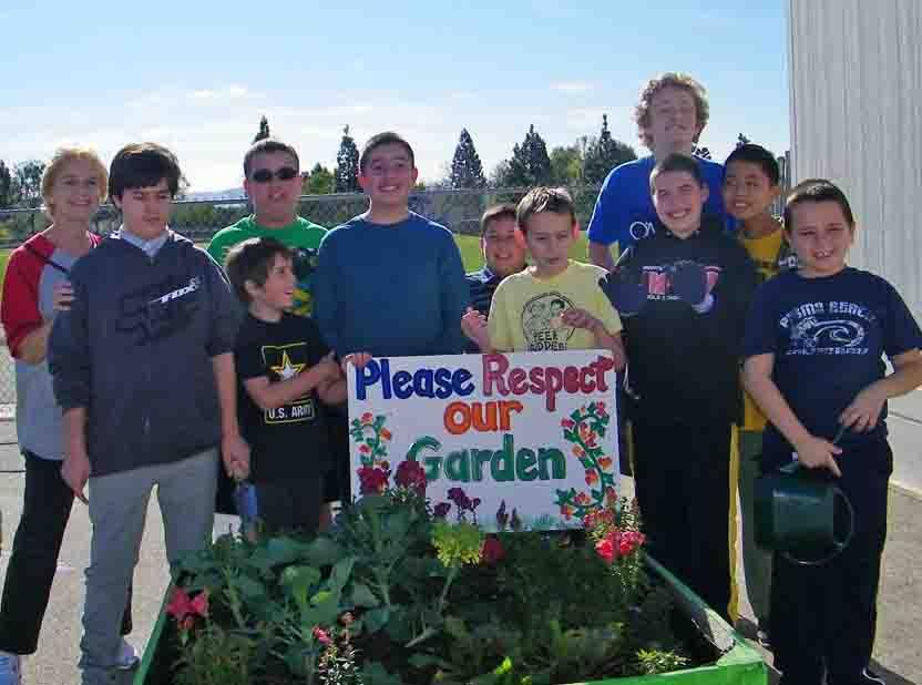 Monte Vista School garden project