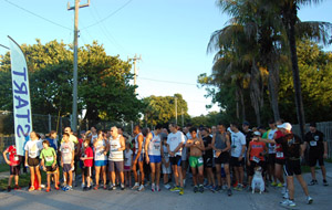 "Runners ""take their mark"" at the MAR-JCC 5K Run"