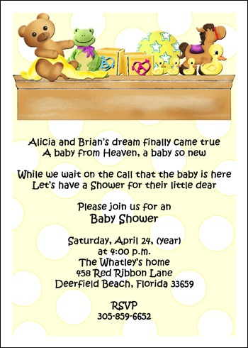 Shower invitations for baby showers party sarah porter www shower invites for baby showers filmwisefo