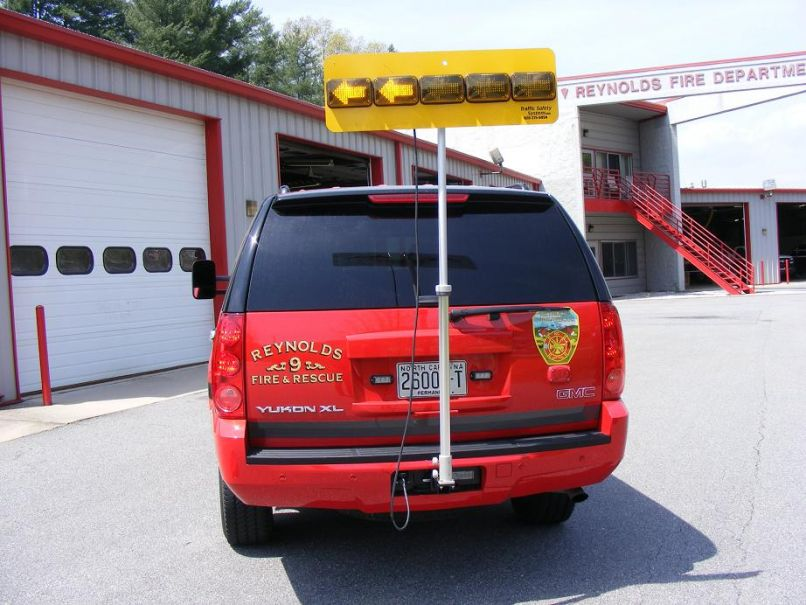 Traffic Safety System To Showcase The Hitch Mounted Led