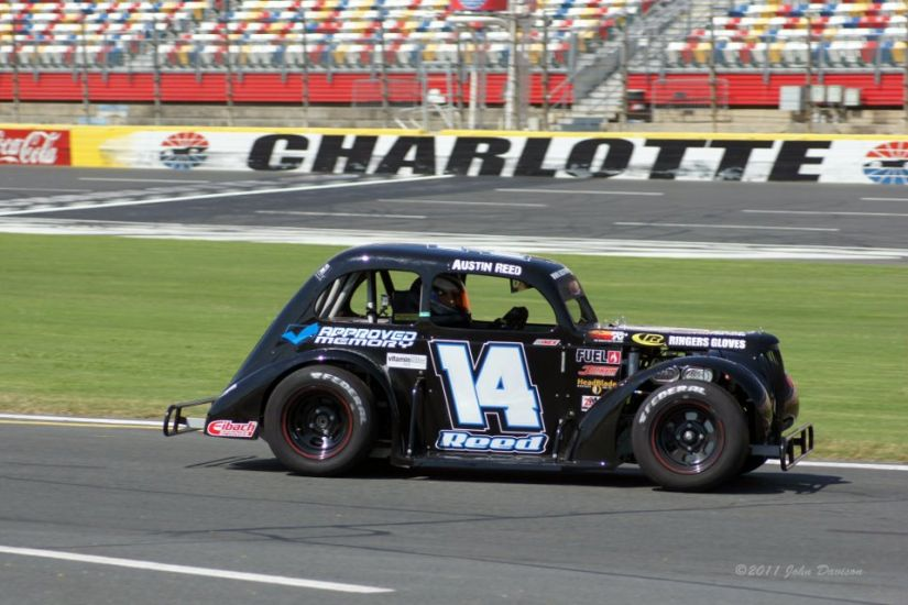 Austin reed sets ambitious plans for 2012 djs sports for Charlotte motor speedway driving school