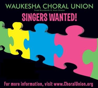 Waukesha Choral Union 2012 Auditions - January 24