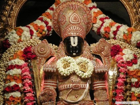 Lord Venkateshwara in a Special Alankara