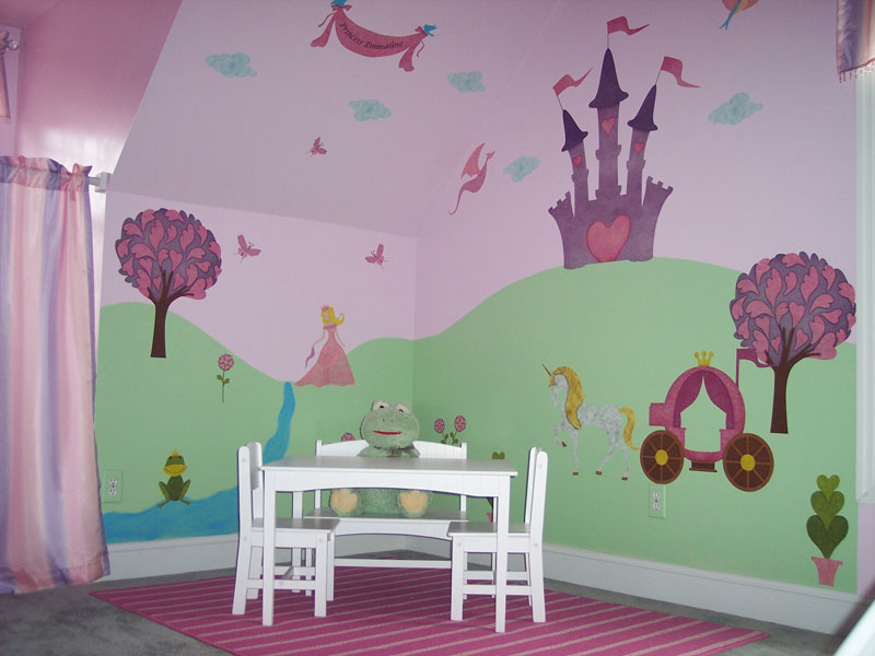 Daddy s princess gets a fairy tale christmas with my for Fairy tale wall mural