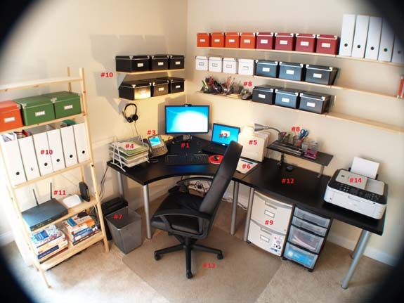 Make sure your home office is easily organized.