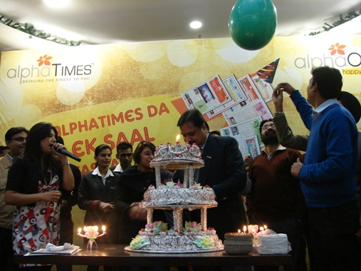 AlphaTimes Cake Cutting Ceremony at AlphaOne