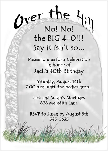 Invitations For Adult Birthday Party