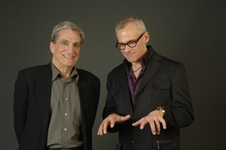 Robert Pinsky & Laurence Hobgood by Eric Antoniou