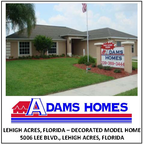Adams Homes-Lehigh Acres, Florida - From the $70's