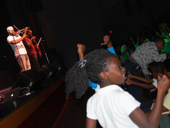 Miami-Dade Elementary Age Kids watch Black Violin