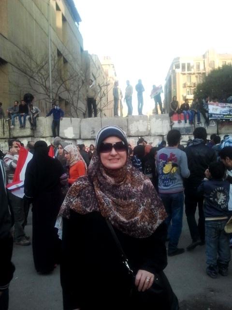Aishah Schwartz in Cairo, January 25, 2012