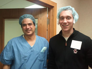 Dr. Gago and Kyle after surgery