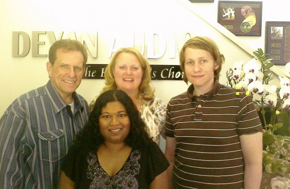 at Deyan Audio: Bob, Debra, Sebastian and Thushari