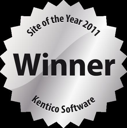 Kentico Site of the Year Award Winner logo