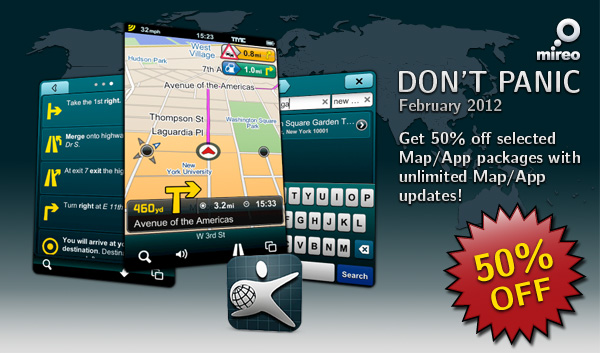 Mireo DONT PANIC App/Map Packages Now 50% Off!
