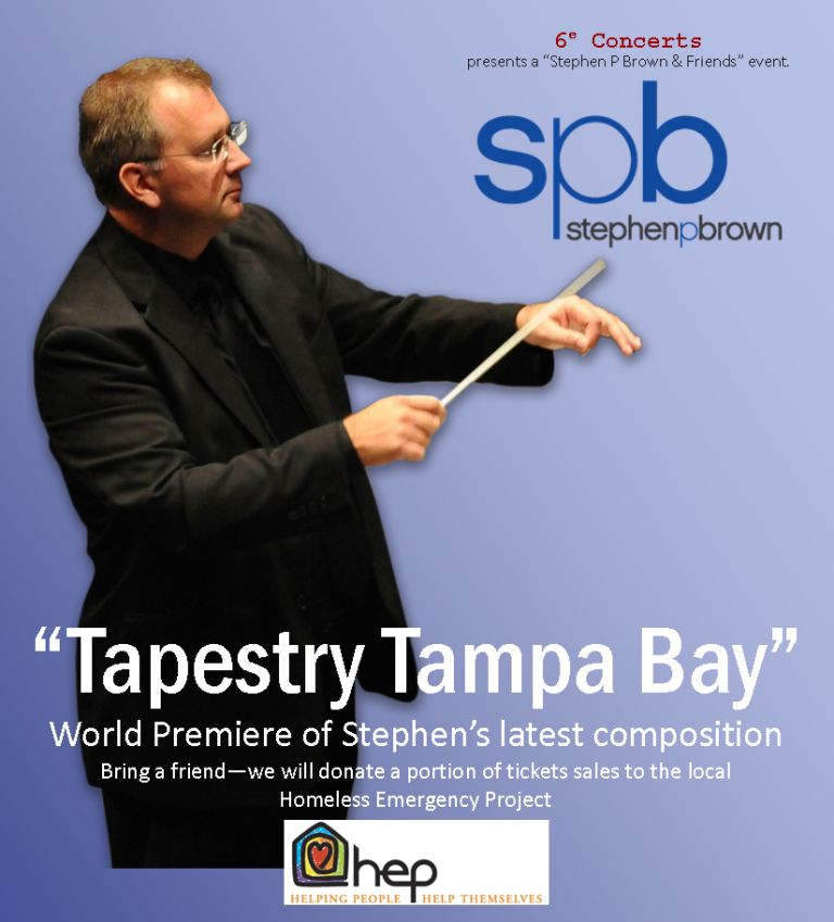 Maestro Stephen P Brown also composes music