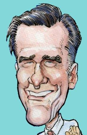 Mitt Romney (drawing by Chuck Senties).