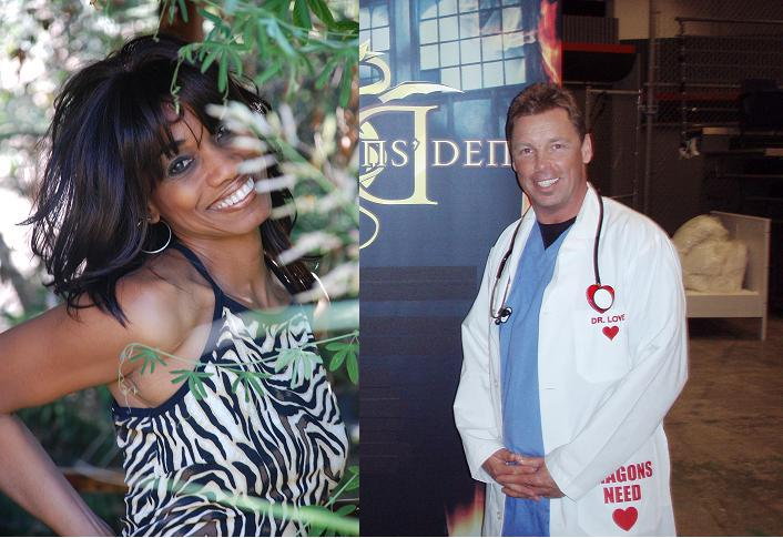 Host Candace Chambers Belida and Dr. Love