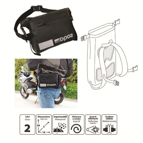 Shop4bikers waterproof bum bag