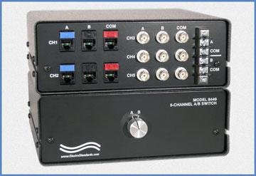 M8449 5-Channel RJ45/BNC A/B Switch
