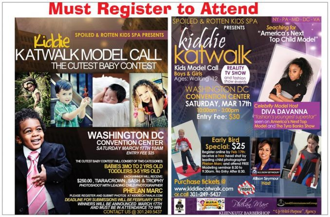 Kiddie Katwalk March 17 at Washington Conv. Cntr