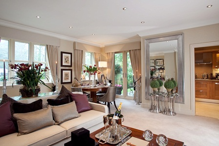 show home dining room | Four show homes allow visitors to see the outstanding ...