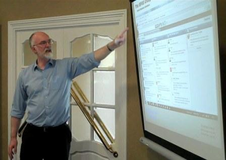 Pete talking to a local Business Group