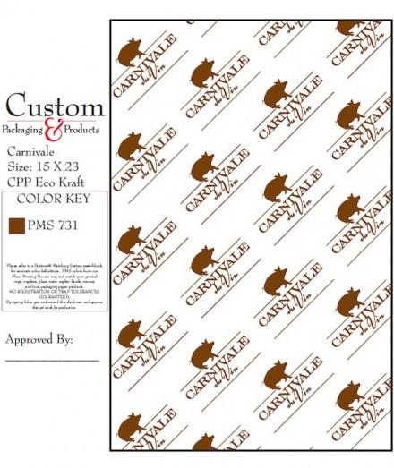 Custom made Kraft Paper for Carnivale du Vin