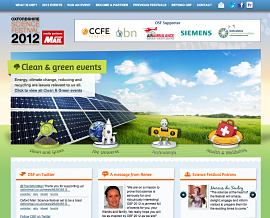 Oxfordshire Science Festival website screenshot
