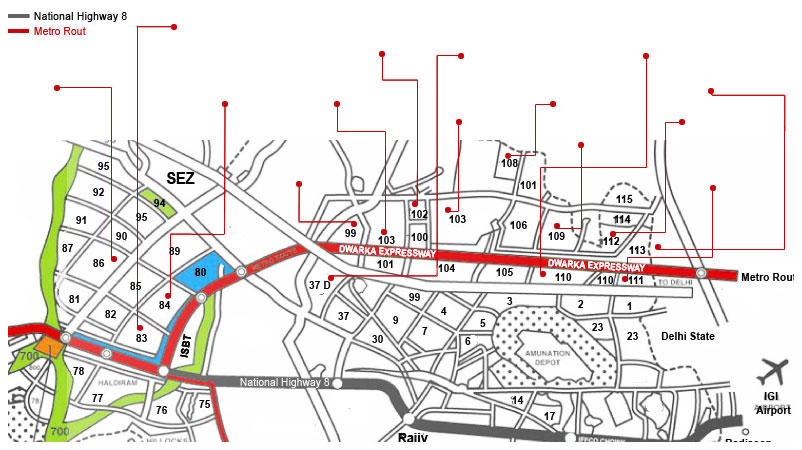 Dwarka Expressway Map Dwarka Expressway Status Dwarka