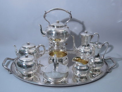 antique tiffany sterling coffee and tea set