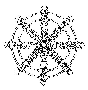 The Darmachakra or Wheel of Dharma