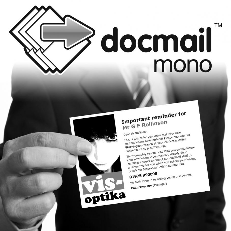 Docmail mono postcards - postage price drop